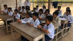 壁のない校舎「Angkor Sen Chey Primary School」を訪問